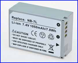 Inca Battery for Canon NB-7L