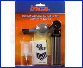 Inca Lens Cleaning Kit - with Mini Tripod