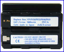 Battery for Sony  DSC-V1/ P2~P10/ F77/ FX77