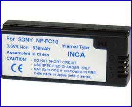 Battery for Sony DSC-P2 ~ P10, DSC-F77 / FX77 & DSV