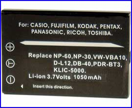 INCA Battery for FUJI/ PENTAX/ KODAK/ PANASONIC/ RICOH/  CASIO/