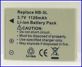 Replacement Battery for Canon NB-5L